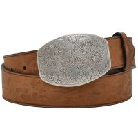 M&F Angel Ranch Womens Floral Tooled Belt DA5042