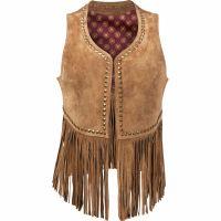 Durango Suede Leather Fringe Tan Womens Vest DLC0043
