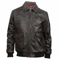 Durango Eagle Eye Black Mens Leather Jacket DLC0049