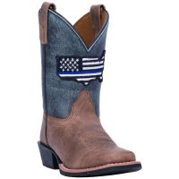 Dan Post Thin Blue Line Kids Leather Boots DPC2956