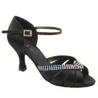Stephanie Elite Black Womens Ballroom Shoes E209