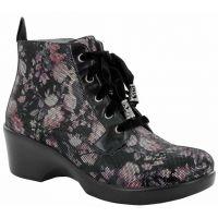 Alegria Eliza Dame Pastel Pink & Lavender Petals Ankle Womens Boots ELI-579