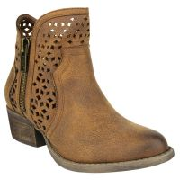 Not Rated Tan Etta Womens Casual Side Zip Short Ankle Boots ETTA
