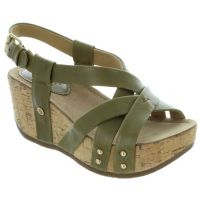 Bussola Moss Old Luggage Frida Womens Strappy Wedge Sandals FRIDA-MOSS
