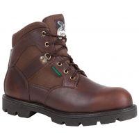 G105 Brown Homeland 6inch Waterproof Steel Toe Georgia Mens Work Boots