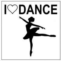 CJ Merchantile 3 Inch I Love Dance/Arabesque Print Sticker w/Clear Background A-G228