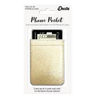 IDecoz Gold Leather Phone Pocket GD451C
