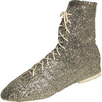 500BAR  Glitter Jazz Boots with Elk Leather Soles