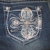 GT-6652 Straight Leg Embellished Pockey Grace In LA Kids Jeans
