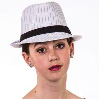 H-123 Pinstripe Fedora Hat
