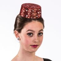 H-38(sm) Glitter Pillbox Hat (Sm)