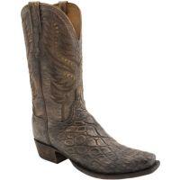 Lucchese Stonewash Tan Giant Alligator Mens Western Boot HL1020.73