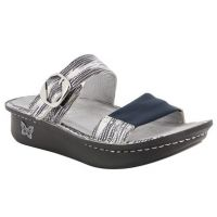 Alegria Black and White Keara Wrapture Womens Confort Sandal KEA-840