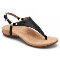 Vionic Black Kirra Backstrap Womens Adjustable Strap Sandals KIRRA-BLK