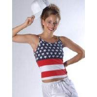 KOS 160SS Stars and Stripes Top Recital Costume  Adult
