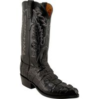 L1325 Caiman Crocodile HornbackTail Exotic Lucchese Mens Cowboy Boots