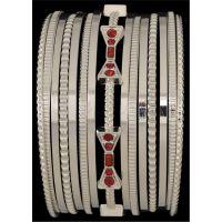 LB1832RHR Bowtie Multi Bangle 3D Belt Set