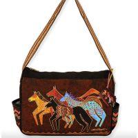 Sun 'N' Sand Laurel Burch Native Horses Medium Tote Bag LB5273