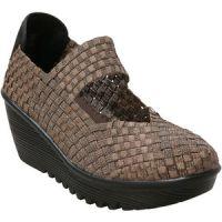 Lulia - Bronze Wedge Stretch Elastic Memory Foam Footbed Womens Shoes