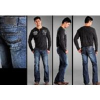 Denim Pistol With Embroidery Slim Fit Boot Cut Rock & Roll Mens Jean