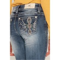 Miss Me Dark Wash Diamond In The Rough Womens Bootcut Jeans M3445B