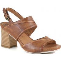 Bussola Camel MARI Womens Leather Comfort Heels MARI-CAMEL