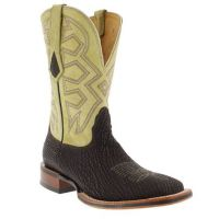 MD5102 Beige Nubuck Shark Square Toe Nocona Mens Western Cowboy Boots
