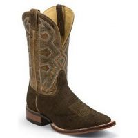 MD5201 Brown Hippo Print Square Toe Nocona Mens Western Cowboy Boots