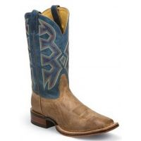 MD5301 Temple Tan 11 inch Shaft Square Toe Nocona Mens Cowboy Boots