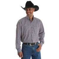 Wrangler Black/White/Red George Strait Long Sleeve Button Down Mens Shirt MGSX411