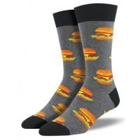 SockSmith Heather Gray Mens Good Burger Socks MNC935-HEG