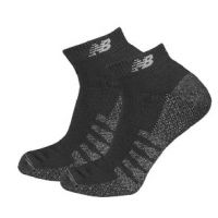 New Balance Black Mens Low Cut Socks with Coolmax 2 Pair N7020-230-2