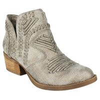 Not Rated Grey Nosara Womens Casual Ankle Boots NOSARA-032