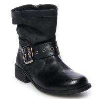 Rachel Shoes Black Parker Girls Slouchy Boots PARKER-BLK