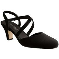 Rose Petal Caliente Black Micro Comfort  Womens Dress Shoes