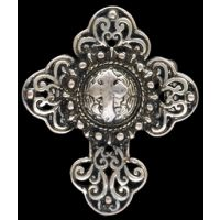 R1109SB Silver Strike Cross Ring