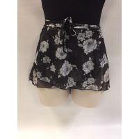 So'Danca Black/White Blossom Floral Print Childrens Skirt