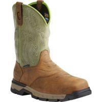 Ariat Rebar Flex Composite Toe Pullon Brown Mens Safety Toe Work Boots 10021486