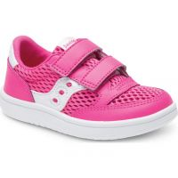 Saucony Pink/White Little Kids Baby Jazz Court Sneakers SL161251