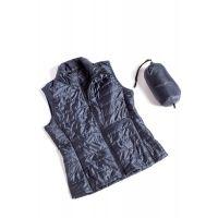 So'Danca Black Sara Nearns Nylon Zip-Up Vest SM1