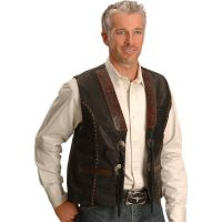 TOOLEDVESTTooled Kobler Leather Mens Vest