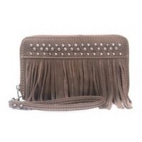 TR09-W003 Brown Trinity Ranch Fringe Design Wallet by Montana West