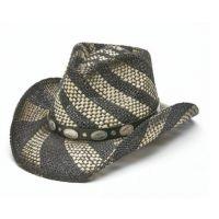 California Hat Company Black/Beige Toyo Straw Western Hat TX-1235