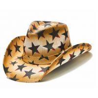 California Hat Company Brown USA Star Unisex Western Hat TX-706