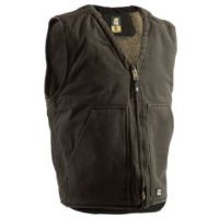 Berne Moss Green V-Neck Mens Vest VW531-MGN