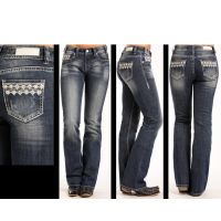Rock and Roll Cowgirl Mid Rise Boot Cut Womens Jeans W1-3395