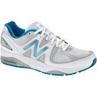 W1540WB2 White/Blue Optimum Control Womens Running Shoes
