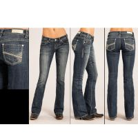 Rock and Roll Cowgirl Rival Boot Cut Womens Jeans W6-3387