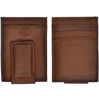 3D Belt Brown Basic Money Clip Mens Wallet W644