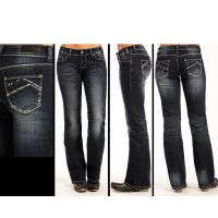 Rock and Roll Cowgirl Riding Boot Cut Womens Jeans W7-3399